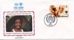 Montserrat, 1979, International Year Of The Child, IYC, United Nations, FDC, Michel 405 - Montserrat