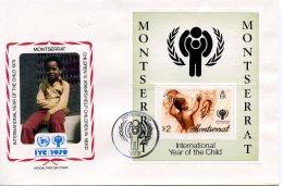 Montserrat, 1979, International Year Of The Child, IYC, United Nations, FDC, Michel Block 20 - Montserrat