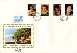 Niue, 1979, International Year Of The Child, IYC, United Nations, FDC, Michel 238-241 - Niue