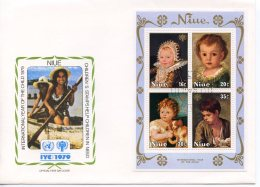 Niue, 1979, International Year Of The Child, IYC, United Nations, FDC, Michel Block 15 - Niue