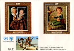 Niue, 1979, International Year Of The Child, IYC, United Nations, FDC, Michel Block 16-19 - Niue