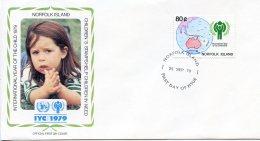 Norfolk Island, 1979, International Year Of The Child, IYC, United Nations, FDC, Michel 233 - Ile Norfolk
