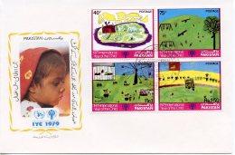 Pakistan, 1979, International Year Of The Child, IYC, United Nations, FDC, Michel 496-499 - Pakistan