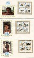 Penrhyn, 1979, International Year Of The Child, IYC, United Nations, FDC, Michel Block 14-16 II - Penrhyn