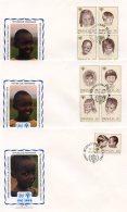 Rwanda, 1979, International Year Of The Child, IYC, United Nations, FDC, Michel 992-1000 - Rwanda