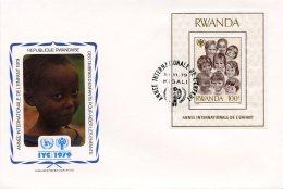 Rwanda, 1979, International Year Of The Child, IYC, United Nations, FDC, Michel Block 86 - Rwanda