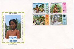 Samoa, 1979, International Year Of The Child, IYC, United Nations, FDC, Michel 399-402 - Samoa