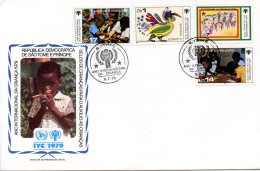 Sao Tome And Principe, 1979, International Year Of The Child, IYC, United Nations, FDC, Michel 579-582 - Sao Tome Et Principe