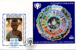 Sao Tome And Principe, 1979, International Year Of The Child, IYC, United Nations, FDC, Michel Block 34 - Sao Tome Et Principe