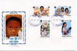 Seychelles, 1979, International Year Of The Child, IYC, United Nations, FDC, Michel 443-446 - Seychelles (1976-...)