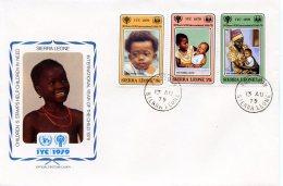 Sierra Leone, 1979, International Year Of The Child, IYC, United Nations, FDC, Michel 578-580 - Sierra Leone (1961-...)