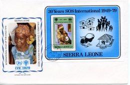 Sierra Leone, 1979, International Year Of The Child, IYC, United Nations, FDC, Michel Block 1 - Sierra Leone (1961-...)