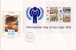Singapore, 1979, International Year Of The Child, IYC, United Nations, FDC, Michel Block 11 - Singapour (1959-...)