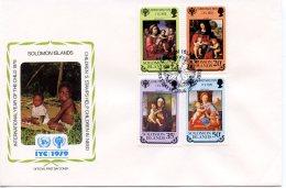 Solomon Islands, 1979, International Year Of The Child, IYC, United Nations, FDC, Michel 401-404 - Salomon (Iles 1978-...)
