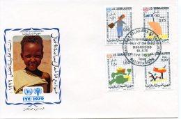 Somalia, 1979, International Year Of The Child, IYC, United Nations, FDC, Michel 278-281 - Somalie (1960-...)