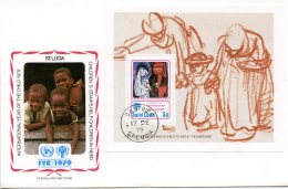 St. Lucia, 1979, International Year Of The Child, IYC, United Nations, FDC, Michel Block 17 - St.Lucie (1979-...)