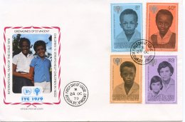 St. Vincent Grenadines, 1979, International Year Of The Child, IYC, United Nations, FDC, Michel 175-178 - St.Vincent & Grenadines