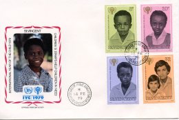 St. Vincent, 1979, International Year Of The Child, IYC, United Nations, FDC, Michel 512-515 - St.Vincent (1979-...)