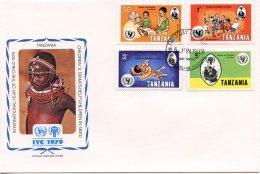 Tanzania, 1979, International Year Of The Child, IYC, United Nations, FDC, Michel 123-126 - Tanzania (1964-...)
