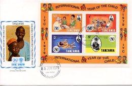 Tanzania, 1979, International Year Of The Child, IYC, United Nations, FDC, Michel Block 18 - Tanzania (1964-...)