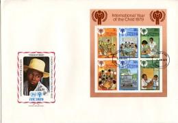 Trinidad And Tobago, 1979, International Year Of The Child, IYC, United Nations, FDC, Michel Block 26 - Trinidad Y Tobago (1962-...)