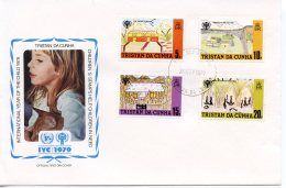 Tristan Da Cunha, 1979, International Year Of The Child, IYC, United Nations, FDC, Michel 266-269 - Tristan Da Cunha