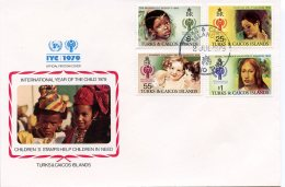 Turks And Caicos, 1979, International Year Of The Child, IYC, United Nations, FDC, Michel 431-434 - Turks & Caicos (I. Turques Et Caïques)