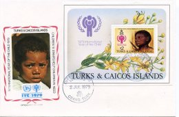 Turks And Caicos, 1979, International Year Of The Child, IYC, United Nations, FDC, Michel Block 15 - Turks & Caicos (I. Turques Et Caïques)