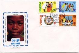 Uganda, 1979, International Year Of The Child, IYC, United Nations, FDC, Michel 203-206 - Uganda (1962-...)