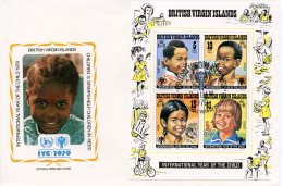 Virgin Islands, 1979, International Year Of The Child, IYC, United Nations, FDC, Michel Block 10 - Iles Vièrges Britanniques