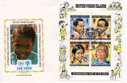 Virgin Islands, 1979, International Year Of The Child, IYC, United Nations, FDC, Michel Block 10 - British Virgin Islands