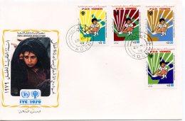 Yemen, 1979, International Year Of The Child, IYC, United Nations, FDC, Michel 234-237 - Yemen