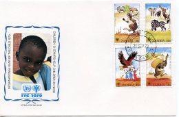 Zambia, 1979, International Year Of The Child, IYC, United Nations, FDC, Michel 205-208 - Zambie (1965-...)