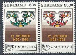 1992 SURINAM 1268-69 ** UPAEP - Surinam
