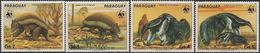 PARAGUAY - SHORT SET WORLDWIDE NATURE PROTECTION (WWF ISSUE): GIANT ARMADILLO AND GIANT ANTEATER 1985 - MNH - W.W.F.