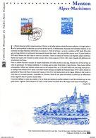 """"""" MENTON """"  Sur Document Philatélique Officiel De 2009. N° YT 4337. Parfait état. DPO - Documentos Del Correo"""