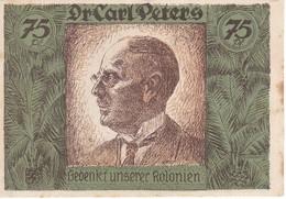 BILLETE DE 75 PFENING DE DEUTSCH-HANSEATISCHER KOLONIAL GEDENKTAG - CARL PETERS (BANKNOTE) - [12] Colonies & Foreign Banks