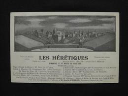 CPA BEZIERS LES HERETIQUES MAQUETTE DECOR  (34 HERAULT) PUBLICITE GRAND CAFE GLACIER BEZIERS FELIX VALETTE PROPIETAIRE - Beziers