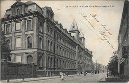 CPA - LILLE - L'école Libre Saint-Joseph - E.C - Lille