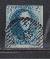 BELGIUM Scott # 7 Used - 1869-1883 Leopold II