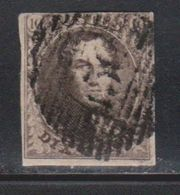 BELGIUM Scott # 6 Used - 1869-1883 Leopold II