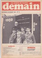Les Scouts De France Demain N°12  Novembre Décembre 1981 - Scoutisme