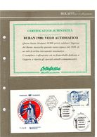 RUSSIA 1988 BURAN VOLO SPAZIALE AUTOMATICO CERTIFICATO BOLAFFI - Russia & URSS