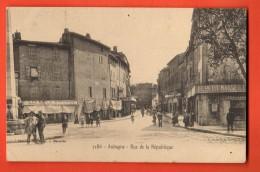 GBJ-17  Aubagne  Rue De La République, Le Petit Marseillais. TRES ANIME. Circulé En 1905 - Aubagne
