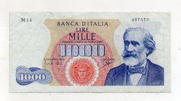 "Italia - Banconota Da Lire 1.000 ""Verdi ""- Medusa - 1° Tipo - Decreto 14.07.1962 - (FDC8506) - [ 2] 1946-… : Républic"