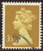 GB 1991 Yv. N°1566 - 35p Ocre - Oblitéré - Machin-Ausgaben