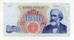 "Italia - Banconota Da Lire 1.000 ""Verdi ""- Medusa - 1° Tipo - Decreto 10.08.1965 - (FDC8507) - [ 2] 1946-… : République"