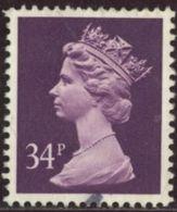 GB 1991 Yv. N°1565 - 34p Violet - Oblitéré - Machin-Ausgaben