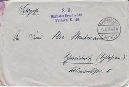 Feldpost Brief - Stab Der Ersatz-Abt. Feldart. R. 26 - 1915 (33384) - Allemagne
