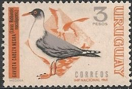URUGUAY - BIRDS: BROWN-HOODED GULL 1969 - MNH - Marine Web-footed Birds
